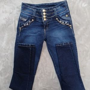 Jeweled skinny jeans